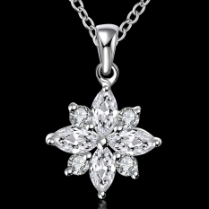 Accessories!!Ornaments Silver Plated Necklace, Silver Plated Fashion Jewelry, Popular Chain Necklace SMTN581 - Intl