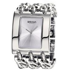Akerfush Ladies Watches Genuine Wei Qin Square Dial Quartz Watch Fashion Chain Bracelet