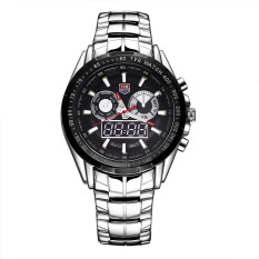akerfush TVG brand double movement dual display with luminous timed alarm sound show week Men's Watch