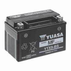 Aki Motor Yuasa YTX9-BS aki MF - Hitam