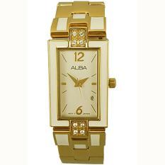 Alba - Jam Tangan Wanita - Gold - Stainless Steel - AH7C02