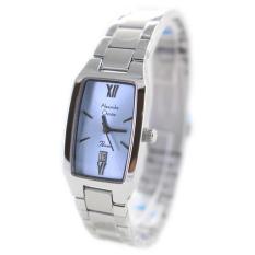 Alexandre Christie 141503 Analog Tali Rantai Jam Tangan Wanita - Silver Kombinasi Biru