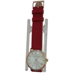 Alexandre Christie 1431047 Analog Tali Kulit Jam Tangan Wanita - Rose Gold Kombinasi Merah