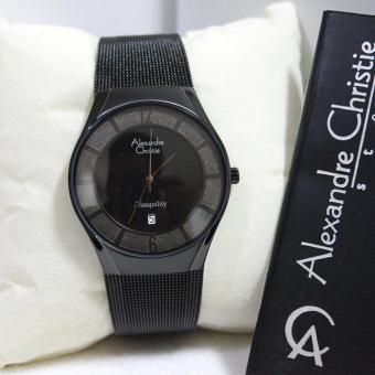 Alexandre Christie 8331 - Jam Tangan Pria - AC 8331 - Full Black - Stainless Steel - Anti Air