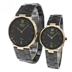Alexandre Christie 8480 Rose Gold - Jam Tangan Couple - Stainless Steel Strap - Rose Gold