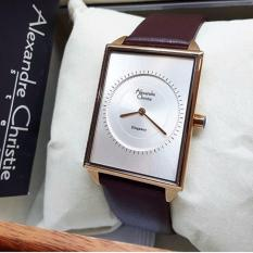 Alexandre Christie AC-8489 Jam Tangan Original Casual Wanita- brown rose (white)