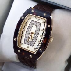 Alexandre Christie AC2638LH Jam Tangan Wanita Strap Leather coklat tua