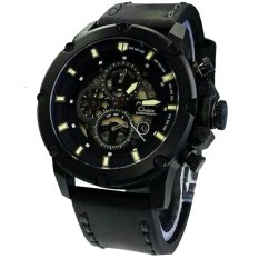 Alexandre Christie AC6416MC Jam Tangan Pria Strap Leather Hitam