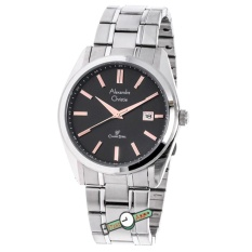 Alexandre Christie - AC8514M - Jamtangan Pria - Stainless Steel - Silver Hitam