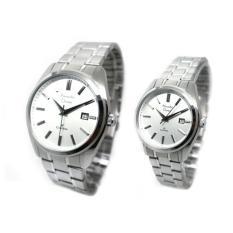 Alexandre Christie Classic Jam Tangan Couple - Silver White - 8514CSLWH