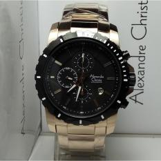 Alexandre Christie Jam Tangan Pria Alexandre Christie AC6141MC Chronograph Gold Stainless Steel