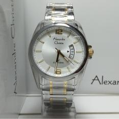 Alexandre Christie Jam Tangan Pria Alexandre Christie AC8289MD Classic Silver Gold Stainless Steel