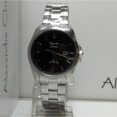 Alexandre Christie Jam Tangan Wanita Alexandre Christie AC8404LD Classic Silver Stainless Steel Dial Black