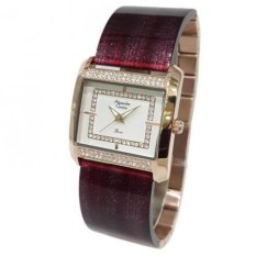 Alexandre Christie Passion 2535LHBRGSLPU Rose Gold Jam tangan Wanita Maroon