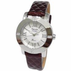 Alexandre Christie Passion 2589LHLSSSLBO Silver - Brown Jam Tangan Wanita + Extra 2 pcs Leather strap