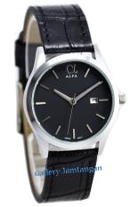 Alfa Original - AF55010L - Jam Tangan Wanita - Kulit - Hitam Silver Inside Hitam
