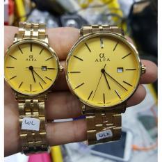 Alfa watch - Jam Tangan Couple Serries - Stainlessteel Strap
