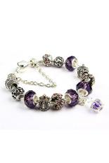 Amango Women Crown Beads Bracelets Crystal Purple (Intl)