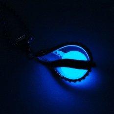 Amart Fashion Teardrop Necklace Glow In The Dark Pendant (Dark Blue) - Intl