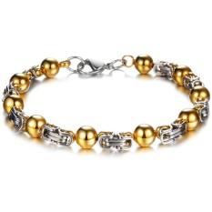Amart Titanium Steel Round Beads Bracelets For Men's Charm Bracelet & Bangle - Intl