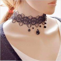 Amefurashi Kalung Cantik & Manis Choker A46 Handmade Gothic Vintage Lace Necklace