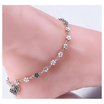 Anneui - GG0220 - Gelang Kaki Bohemian India Bollywood Model Double Rantai Star (Silver)