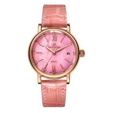 aobog Polaroid long watch Girls simple fashion genuine waterproof quartz sapphire steel strap watch (Pink) - intl
