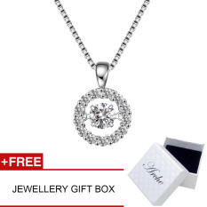 Arche Dancing With The Stars Dancing Pendant White Gold Plated 925 Silver Short Necklace Exquisite Elegant Design Jewellery
