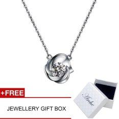 Arche Wave Of The Future Zirconia Pendant Necklace Trendy Fashion Designer Jewellery