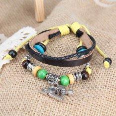 Arrow Heart Pendant Girl Boy Braid Bracelet Unisex String Band Bangle