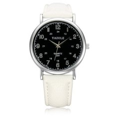 Autoleader YAZOLE 281 PU Band Big Dial Waterproof Quartz Watch (Intl)