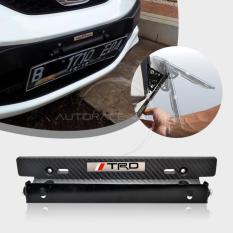 Autorace Dudukan/Tatakan Plat Nomor Carbon Mobil/ Breket/Braket/Bracket JDM TRD - Black