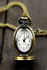 AZONE Quartz Pocket Watch Chain Necklace Pendant Of Retro Bronze Steampunk