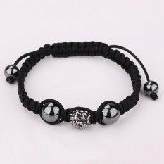 B023Shamballa Jewelry Wholesale Fashion Bracelet Clay Disco Ball Shambala Bracelets For Women Crystal Charm (Intl)