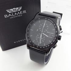 Balmer BL 7931 Full Hitam - Jam Tangan Casual Pria - Leather Strap - Crono Aktif