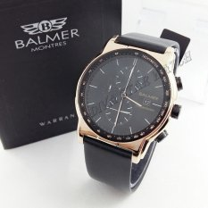 Balmer BL 7931 Hitam RoseGold - Jam Tangan Casual Pria - Leather Strap - Crono Aktif