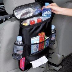 BEST Auto Car Mobil Seat Organizer Insulated Tahan Panas Dingin Tempat Botol Minum - Hitam