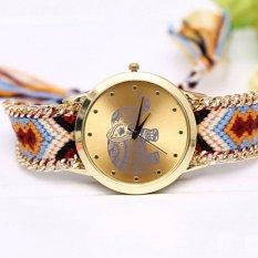 BEST Jam Geneva Rajut Anyam Bohemia Vintage Indian Korea Style Watch - COKLAT GAJAH
