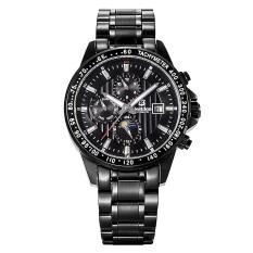 Bestdon 7108G Men's Sport Waterproof Stainless Steel Band Luminous Pointer Auto-Mechanical Watch W / Calendar - Black