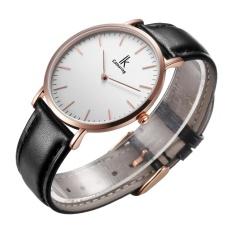 BESTDON IK colouring Ultra Thin Minimalist Fashion Casual Mens Watches Top Brand Luxury Genuine Leather Strap Quartz Watch Business Man (Rose goldBlack)
