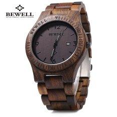 Bewell ZS - W086B Wood Quartz Men Watch Analog Date Display - Intl