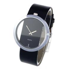 Big Dial Transparent Hollow Skeleton Wristwatch Lover's Women Watch (Black) (Intl)