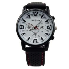 Big Face Silicone Strap Sporting Quartz Watches Women (White)