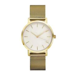 Bigskyie Classic Women's Men's Wrist Watch Steel Strap Quartz Casual Watches Golden Free Shipping