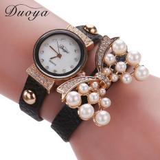 Bigskyie Duoya Hot Selling Luxury Fashion Heart Pendant Women Watches Black Free Shipping