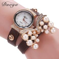 Bigskyie Duoya Hot Selling Luxury Fashion Heart Pendant Women Watches Coffee Free Shipping