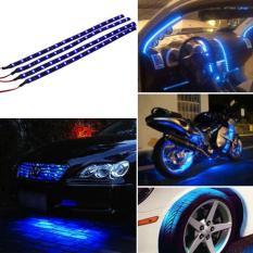 Biru 4 buah 30 cm/15 mobil motor truk fleksibel Strip Waterproof lampu 12 V