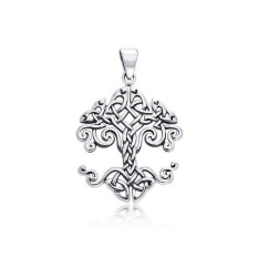 Bling Jewellery Tree Of Life Celtic Knot 925 Sterling Silver Pendant