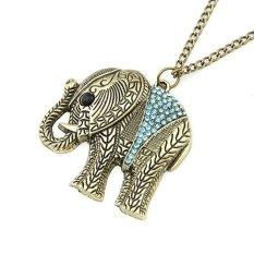 Blink Kalung Retro Wanita Liontin Gajah Blink - Biru
