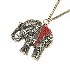 Blink Kalung Retro Wanita Liontin Gajah Blink - Merah